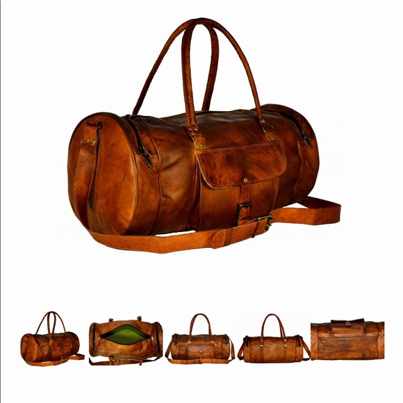 Handcrafted genuine leather travel bag 💼 713ab912475bf